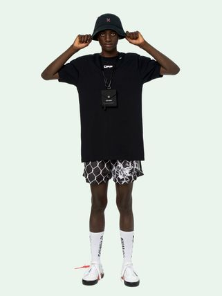 Off-White More T-Shirts Street Style Cotton Short Sleeves Oversized 19