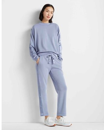 Casual Style Unisex Sweat Blended Fabrics Plain Sweatpants