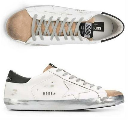 Star Suede Street Style Leather Logo Sneakers