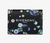 GIVENCHY Flower Patterns Unisex Calfskin Street Style Plain