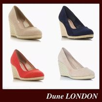 Dune LONDON Casual Style Suede Plain Elegant Style Wedge Pumps & Mules