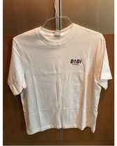oioi korea Unisex Street Style Plain Cotton Short Sleeves Logo Tops
