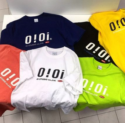 oioi korea More T-Shirts Street Style Plain Cotton Short Sleeves Logo T-Shirts