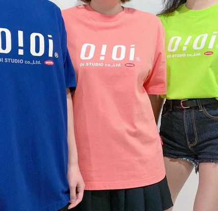 oioi korea More T-Shirts Street Style Plain Cotton Short Sleeves Logo T-Shirts 4