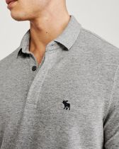 Abercrombie & Fitch Plain Short Sleeves Logo Surf Style Polos