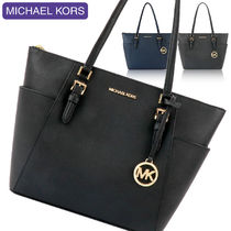 Michael Kors A4 Plain Leather Office Style Totes