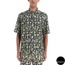 FENDI Camouflage Monogram Short Sleeves Logo Shirts