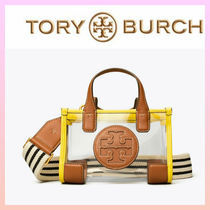 Tory Burch ELLA TOTE Casual Style 2WAY Crystal Clear Bags PVC Clothing Crossbody