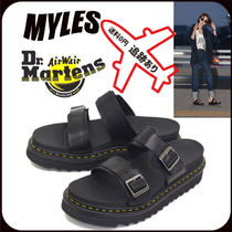 Dr Martens MYLES Unisex Blended Fabrics Street Style Sandals