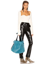 Ance Studios Casual Style Blended Fabrics Street Style Plain Leather