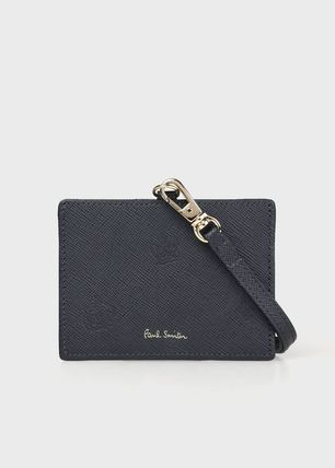 Paul Smith Plain Leather Logo Card Holders
