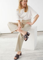 & Other Stories Plain Leather Heeled Sandals
