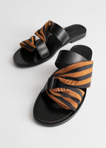 & Other Stories Stripes Leather Sandals Sandal