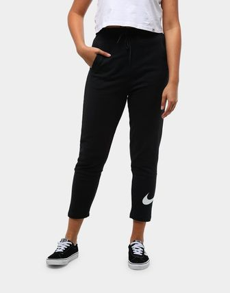 Nike Casual Style Street Style Plain Medium Logo Wide Leg Pants