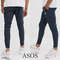 ASOS Stripes Street Style Logo Cropped Pants