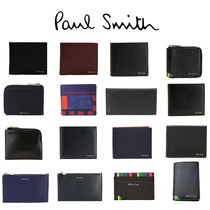 Paul Smith Unisex Street Style Plain Leather Folding Wallet Logo