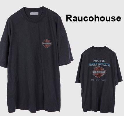 Raucohouse Long Sleeve Stripes Long Sleeves Plain Oversized Long Sleeve T-shirt
