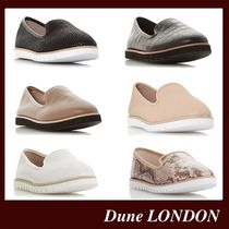 Dune LONDON Round Toe Casual Style Plain Leather Office Style