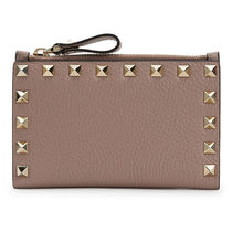 VALENTINO Studded Leather Logo Card Holders