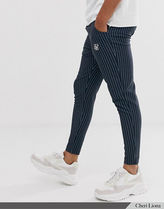 ASOS Printed Pants Stripes Other Plaid Patterns Zigzag