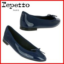 repetto Round Toe Plain Elegant Style Formal Style  Flats