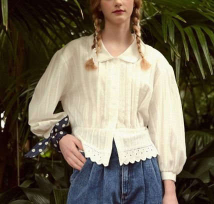 Street Style Long Sleeves Shirts & Blouses