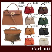 CARBOTTI Casual Style Plain Leather Party Style Office Style