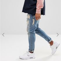 ASOS Tapered Pants Denim Street Style Plain Cotton Jeans
