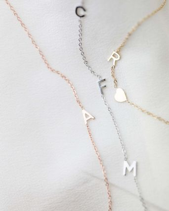 Casual Style Initial Chain Party Style Office Style 14K Gold