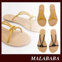 Malababa Casual Style Sheepskin Plain Leather Sandals Sandal