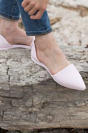 Casual Style Elegant Style Pointed Toe Shoes