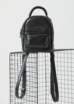 AFENDS Casual Style Street Style 2WAY Plain Leather Logo Backpacks