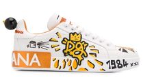 D&G Leather Low-Top Sneakers