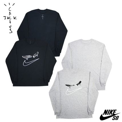 Nike Long Sleeve Crew Neck Pullovers Unisex Street Style Collaboration