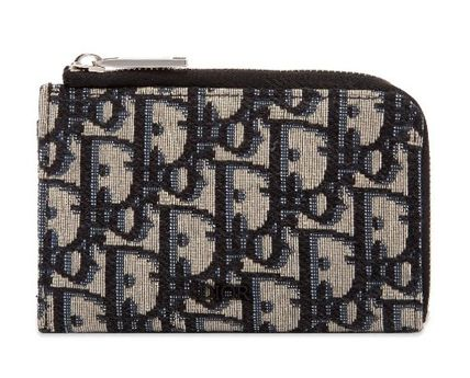 Christian Dior Unisex Street Style Coin Cases