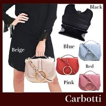 CARBOTTI Casual Style Plain Leather Office Style Elegant Style