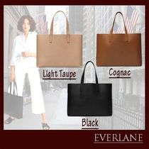 Everlane A4 Plain Leather Office Style Totes
