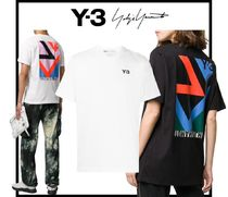 Y-3 Unisex Street Style Short Sleeves Designers T-Shirts