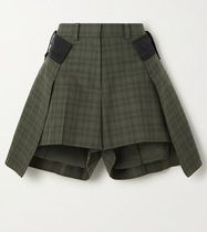 sacai Short Other Plaid Patterns Casual Style Street Style Shorts