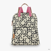 Orla Kiely Flower Patterns Casual Style Canvas Blended Fabrics A4 Logo