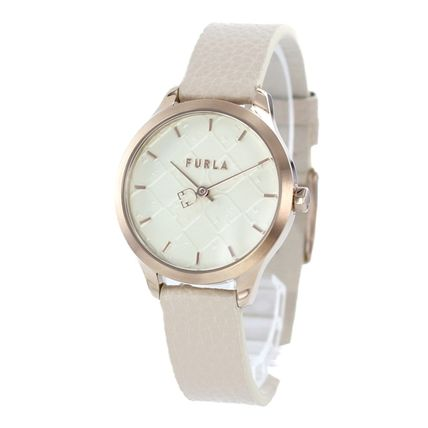 FURLA Casual Style Round Quartz Watches Bridal Analog Watches