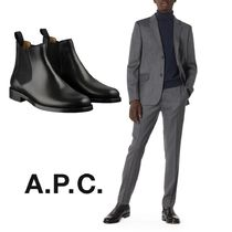 A.P.C. Street Style Plain Leather Chelsea Boots Chelsea Boots
