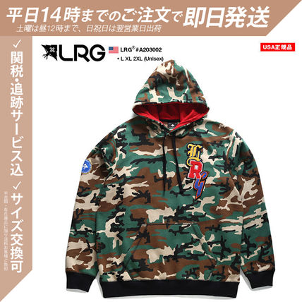 Pullovers Camouflage Unisex Sweat Street Style Long Sleeves
