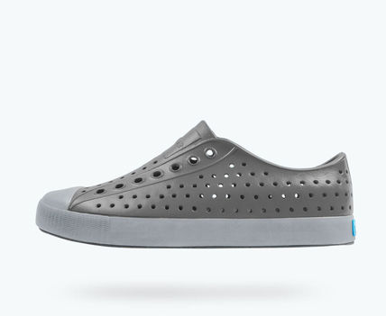 Round Toe Rubber Sole Casual Style Unisex Slip-On Shoes