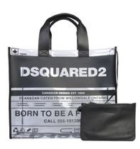 D SQUARED2 Crystal Clear Bags PVC Clothing Totes