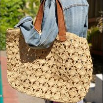 Mar Y Sol Casual Style A4 Plain Leather Handmade Totes