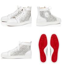 Christian Louboutin LOUIS Monogram Enamel Blended Fabrics Street Style Plain Leather