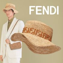 FENDI Bucket Hats Straw Hats
