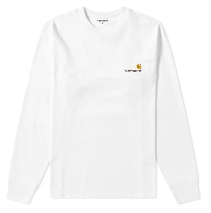 Carhartt Crew Neck Street Style Long Sleeves Plain Cotton