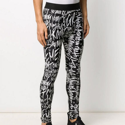 Printed Pants Street Style Logo Bottoms